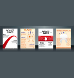 Collection of stylish flyers templates or banners vector