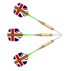 Darts with union jack flag vector