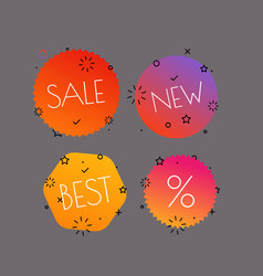 different shopping tags set banners collection vector image