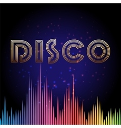 Disco background with soundwaves vector image