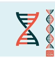 Dna icon isolated vector