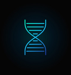 Dna spiral blue icon or symbol in line vector