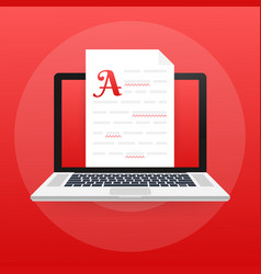 Editable online document creative writing and vector