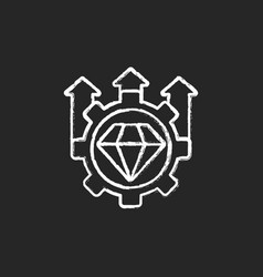 Excellence high standards chalk white icon vector