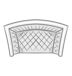 Football goal icon black monochrome style vector
