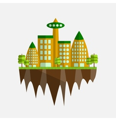 Future city in flat design vector