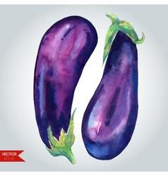 Glossy Eggplants vector image