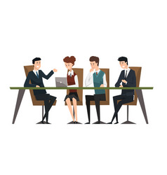 Group business people working in office men vector