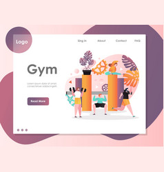gym website landing page design template vector image
