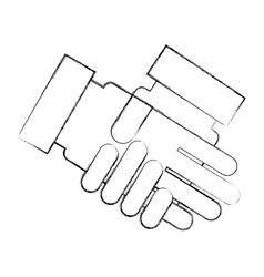 handshake business isolated icon vector image