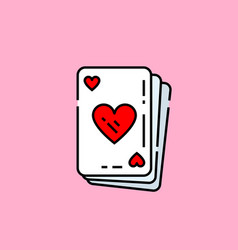 heart poker card icon vector image