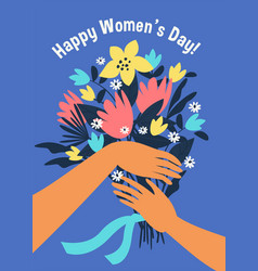 international women s day template for vector image