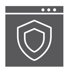 internet security glyph icon safety and network vector image