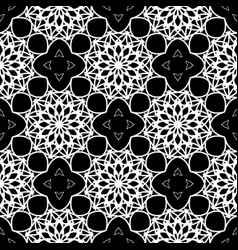 Intricate black and white pattern vector