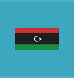 Libya flag icon in flat design vector