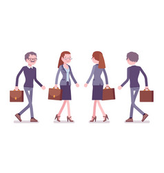 male and female teacher walking vector image