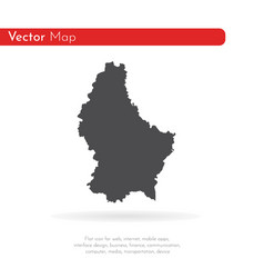 map luxembourg isolated vector image