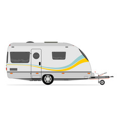 modern caravan vector image
