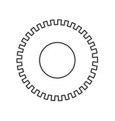 Monochrome silhouette of pinion icon vector