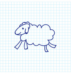 of zoology symbol on sheep vector image