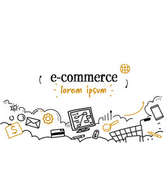 online shopping technology e-commerce concept vector image