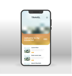 online travel ui ux gui screen for mobile apps vector image