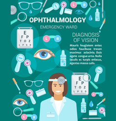Ophthalmology medical clinic and doctor vector