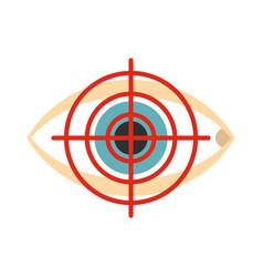 Optician icon flat style vector