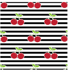 Pattern with cherries vector
