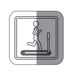 person jogging on a machine icon vector image