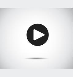 play button icon flat logo app vector image