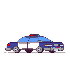 police car line style vector image