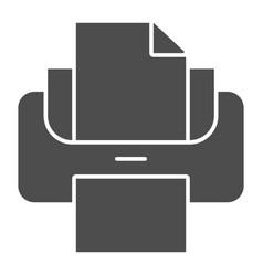 Printer solid icon print vector