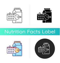 Product dates icon vector