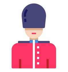 Queens guard flat vector