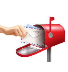 realistic mail box composition vector image