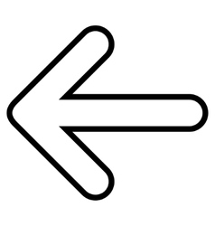 Rounded Arrow Left Outline Icon vector