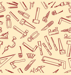 Seamless set hand tools for productive work vector