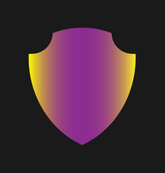 shield icon - sign and symbol for design vector image