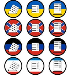 Signs of voting in ukraine vector