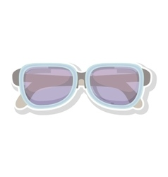 Silhouette sport glasses with blue frame vector