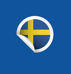 sweden label flags template design vector image