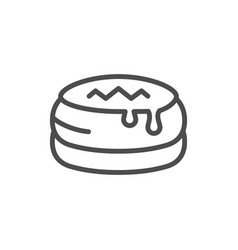 sweet cake line outline icon vector image
