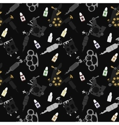 Tattoo machines black seamless pattern vector
