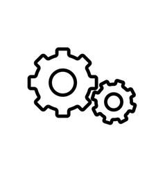Thin line settings gear icon vector
