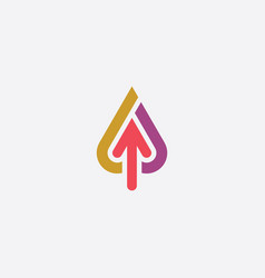 Up arrow upload icon logo vector