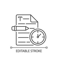 Urgent copywriting linear icon vector