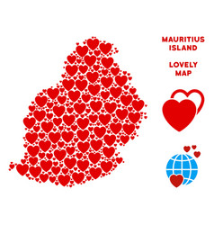 valentine mauritius island map composition vector image