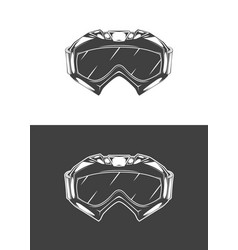 Vintage monochrome detailed mask vector