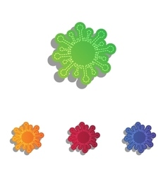 Virus sign Colorfull applique icons vector image